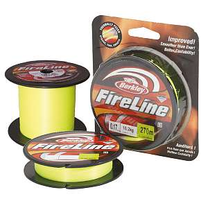 Шнур плетёный Berkley Fireline Green 110m, 0.2мм