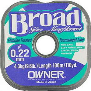 Леска моно. Owner BROAD, 100m, 0.12mm.