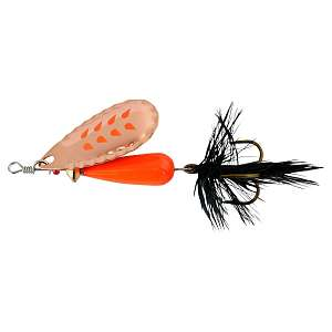 Блесна вращающаяся Abu Garcia Droppen FLUO Orange C 8гр., C BLACK FEATHER